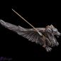 "Preview: Incense stick holder ""Steampunk Dragon"""