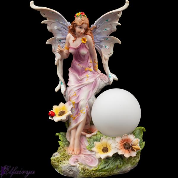 "Flower fairy ""Floralia"" with lamp"